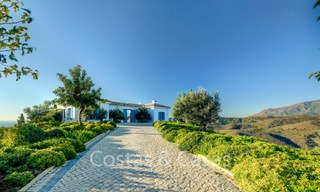 Majestic luxury villa in rural settings for sale, with amazing panoramic sea and mountain views, Benahavis - Marbella 6326