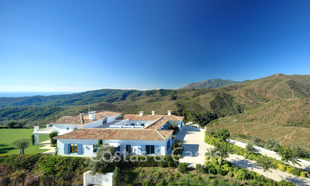Majestic luxury villa in rural settings for sale, with amazing panoramic sea and mountain views, Benahavis - Marbella 6328