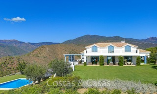 Majestic luxury villa in rural settings for sale, with amazing panoramic sea and mountain views, Benahavis - Marbella 6330