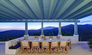 Majestic luxury villa in rural settings for sale, with amazing panoramic sea and mountain views, Benahavis - Marbella 6348