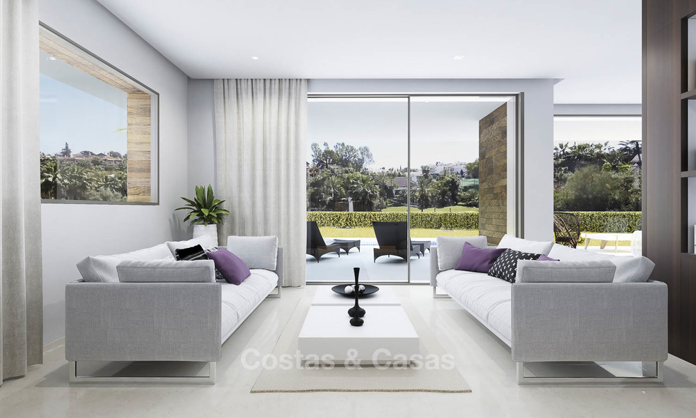 Modern, light and comfortable luxury villas for sale at a prime golf resort, New Golden Mile, Marbella - Estepona 6664