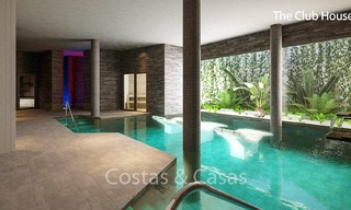 Fashionable avant-garde townhouses with sea views for sale, New Golden Mile, Marbella - Estepona 6557