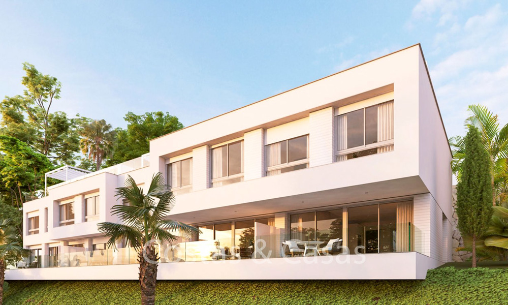 Fashionable avant-garde townhouses with sea views for sale, New Golden Mile, Marbella - Estepona 6547