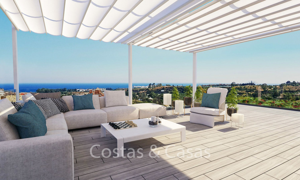 Fashionable avant-garde townhouses with sea views for sale, New Golden Mile, Marbella - Estepona 6548