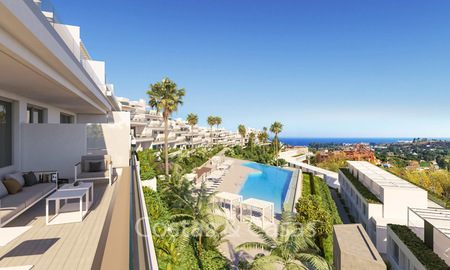 Fashionable avant-garde townhouses with sea views for sale, New Golden Mile, Marbella - Estepona 6549