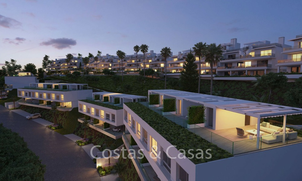 Fashionable avant-garde townhouses with sea views for sale, New Golden Mile, Marbella - Estepona 6550