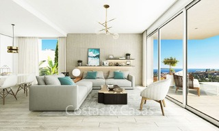 Fashionable avant-garde townhouses with sea views for sale, New Golden Mile, Marbella - Estepona 6554