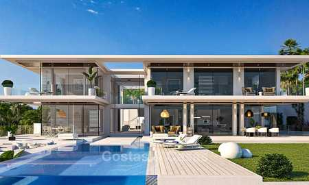 Impressive new-built Californian style modern villa for sale, with magnificent sea views, Benahavis - Marbella 6763