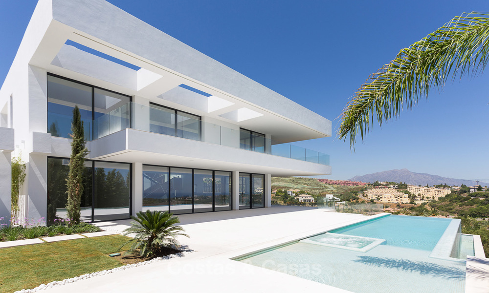 Majestic modern villa with panoramic sea views for sale, front-line golf, Benahavis - Marbella 6863