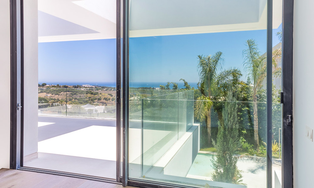 Majestic modern villa with panoramic sea views for sale, front-line golf, Benahavis - Marbella 6856