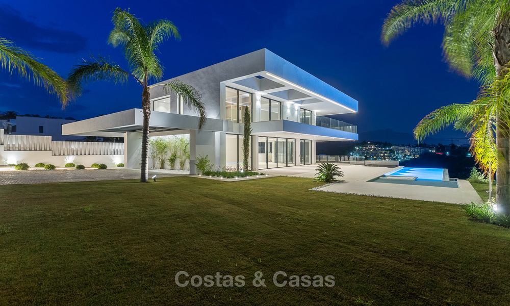 Majestic modern villa with panoramic sea views for sale, front-line golf, Benahavis - Marbella 6875