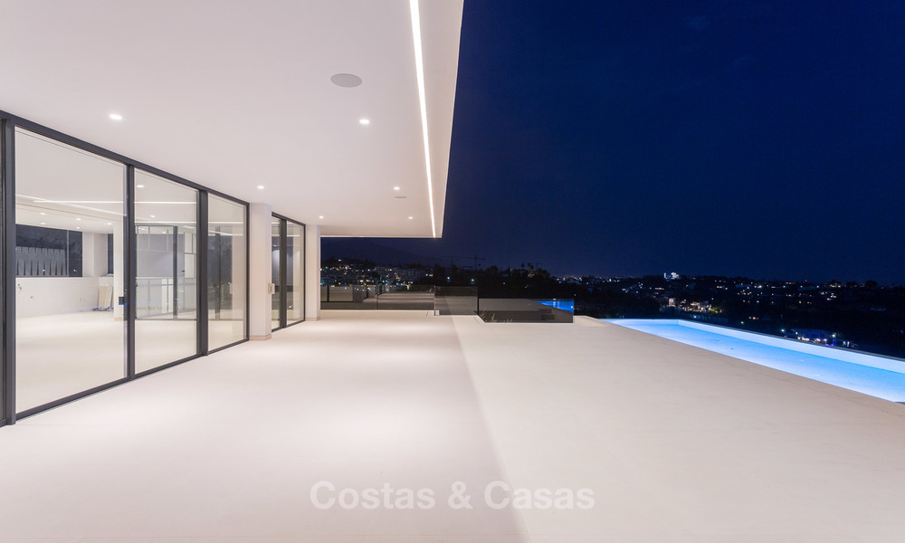 Majestic modern villa with panoramic sea views for sale, front-line golf, Benahavis - Marbella 6877