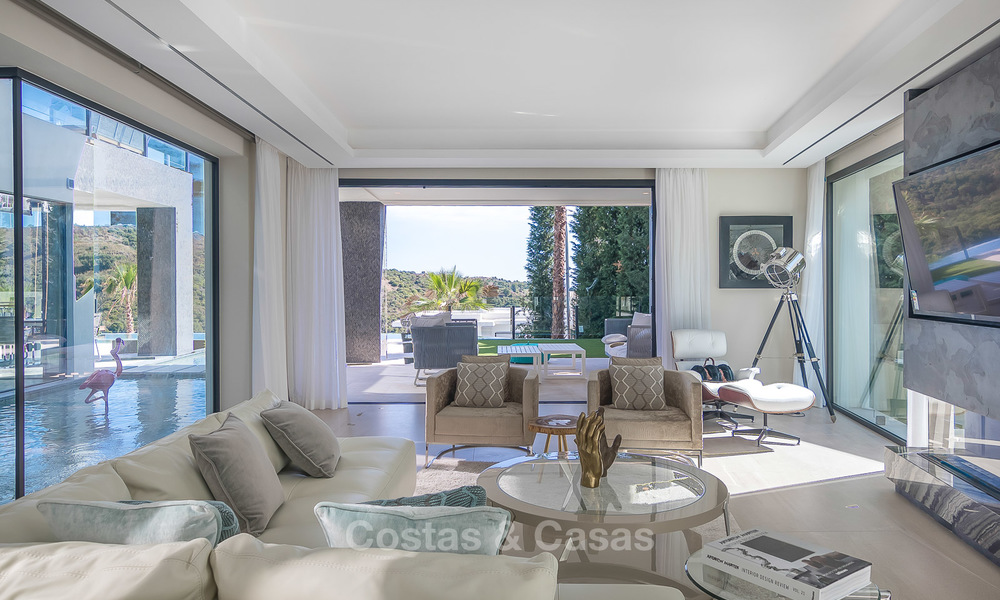 Sumptuous new built designer villa for sale in an exclusive gated urbanisation, Benahavis - Marbella 6893