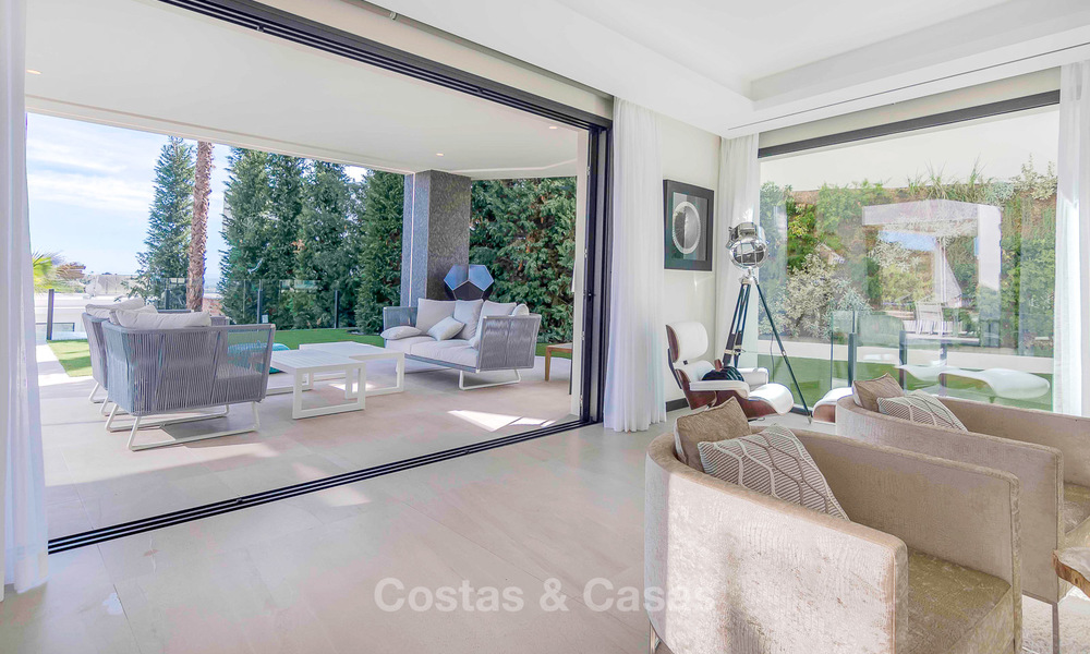 Sumptuous new built designer villa for sale in an exclusive gated urbanisation, Benahavis - Marbella 6896