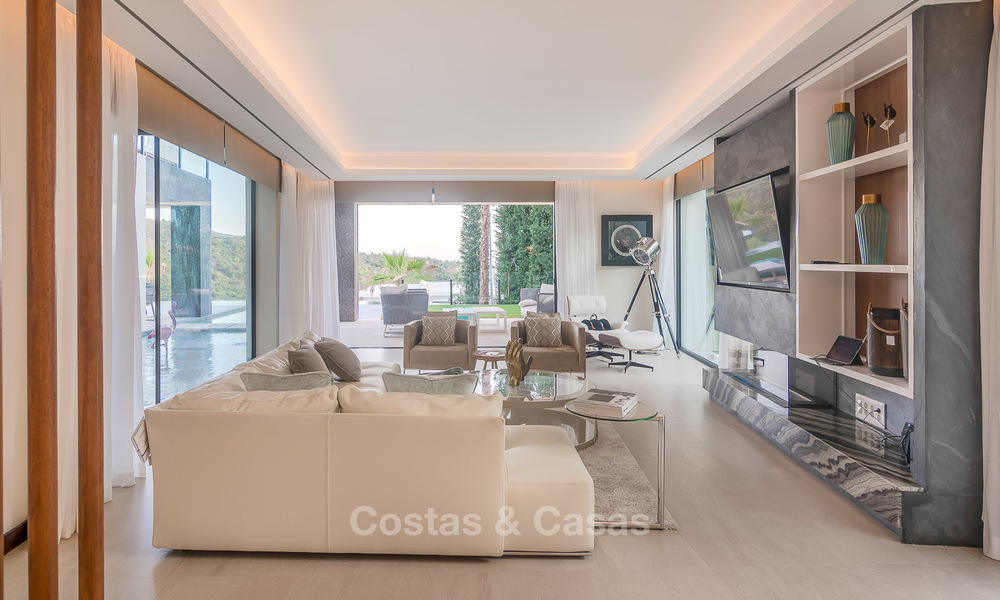 Sumptuous new built designer villa for sale in an exclusive gated urbanisation, Benahavis - Marbella 6926