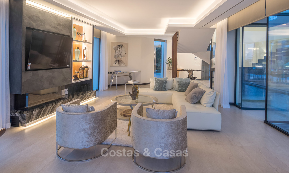 Sumptuous new built designer villa for sale in an exclusive gated urbanisation, Benahavis - Marbella 6933