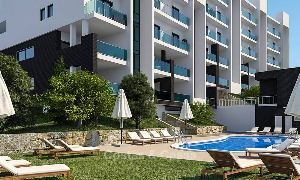 Attractive new apartments with sea and golf views for sale, walking distance to the beach, Manilva - Costa del Sol 7075