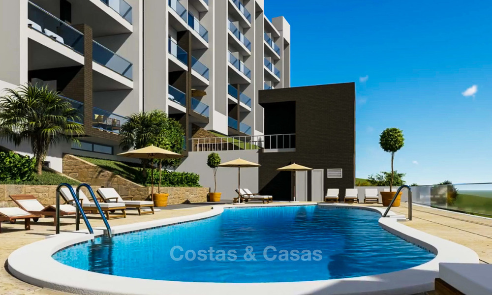 Attractive new apartments with sea and golf views for sale, walking distance to the beach, Manilva - Costa del Sol 7077