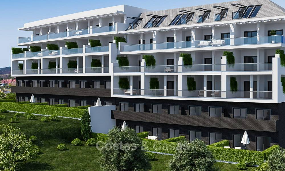 Attractive new apartments with sea and golf views for sale, walking distance to the beach, Manilva - Costa del Sol 7078