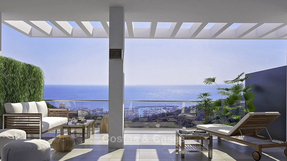 Attractive new apartments with sea and golf views for sale, walking distance to the beach, Manilva - Costa del Sol 11136