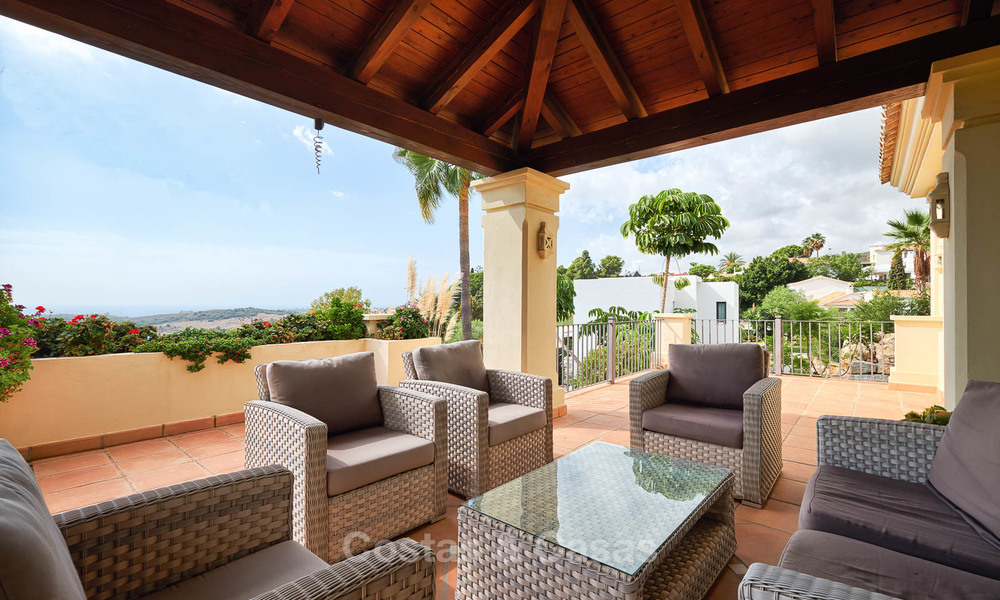 Charming and spacious classical style villa with sea views for sale, gated community, Benahavis - Marbella 7081
