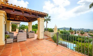 Charming and spacious classical style villa with sea views for sale, gated community, Benahavis - Marbella 7082