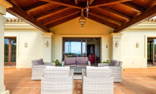 Charming and spacious classical style villa with sea views for sale, gated community, Benahavis - Marbella 7084