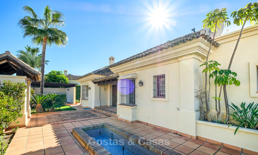 Charming and spacious classical style villa with sea views for sale, gated community, Benahavis - Marbella 7109
