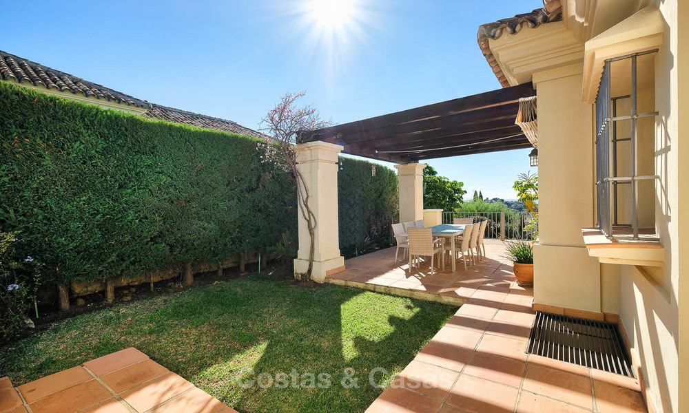Charming and spacious classical style villa with sea views for sale, gated community, Benahavis - Marbella 7112