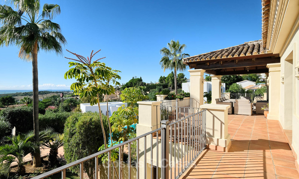 Charming and spacious classical style villa with sea views for sale, gated community, Benahavis - Marbella 7114