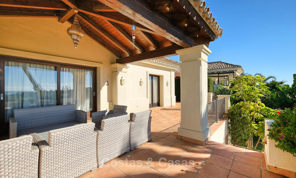 Charming and spacious classical style villa with sea views for sale, gated community, Benahavis - Marbella 7115