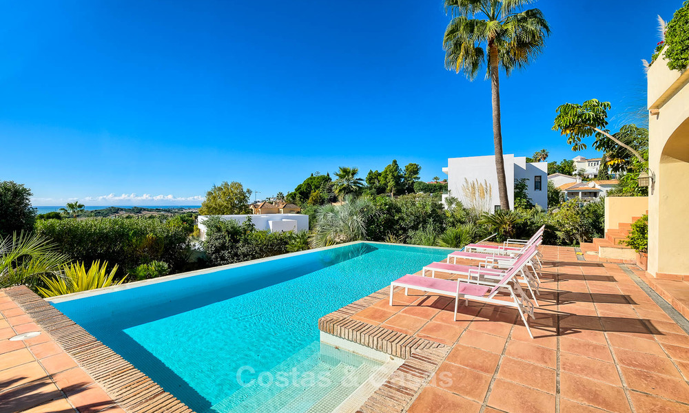 Charming and spacious classical style villa with sea views for sale, gated community, Benahavis - Marbella 7116