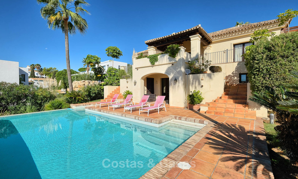 Charming and spacious classical style villa with sea views for sale, gated community, Benahavis - Marbella 7117