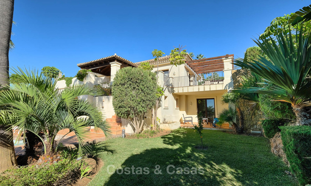 Charming and spacious classical style villa with sea views for sale, gated community, Benahavis - Marbella 7118