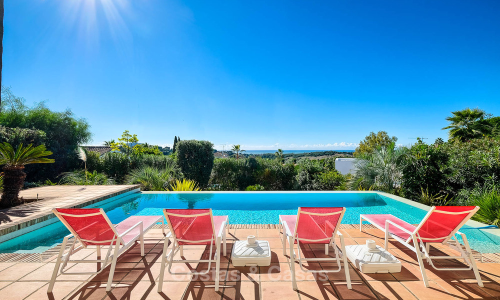 Charming and spacious classical style villa with sea views for sale, gated community, Benahavis - Marbella 7122