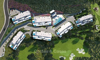 Brand new modern apartments with sea views for sale in a luxury boutique golf resort - La Cala, Mijas, Costa del Sol 7123