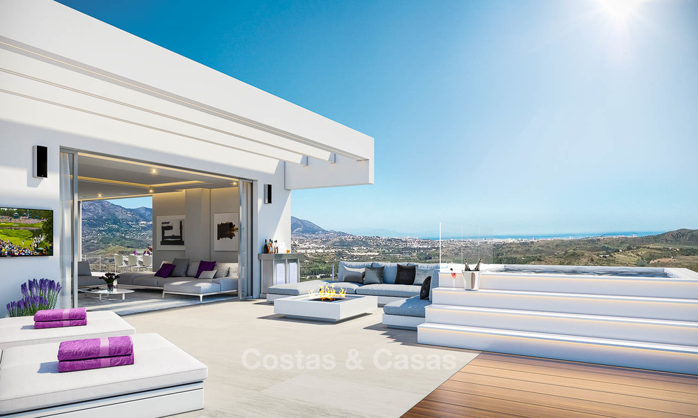 Brand new modern apartments with sea views for sale in a luxury boutique golf resort - La Cala, Mijas, Costa del Sol 7128