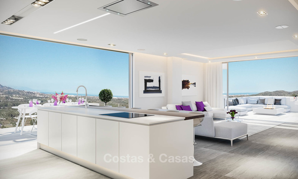 Brand new modern apartments with sea views for sale in a luxury boutique golf resort - La Cala, Mijas, Costa del Sol 7129