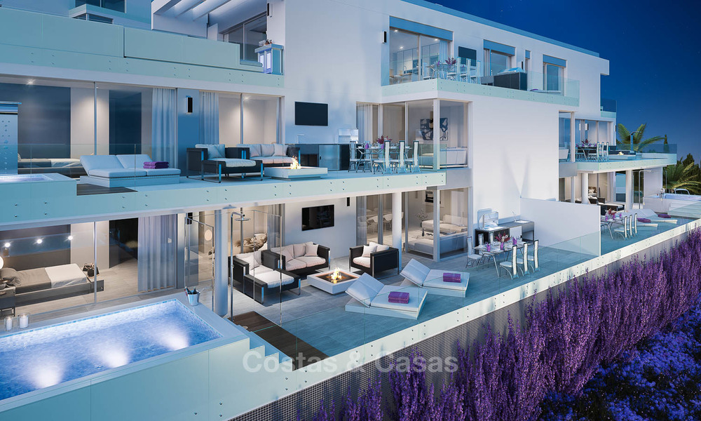 Brand new modern apartments with sea views for sale in a luxury boutique golf resort - La Cala, Mijas, Costa del Sol 7132