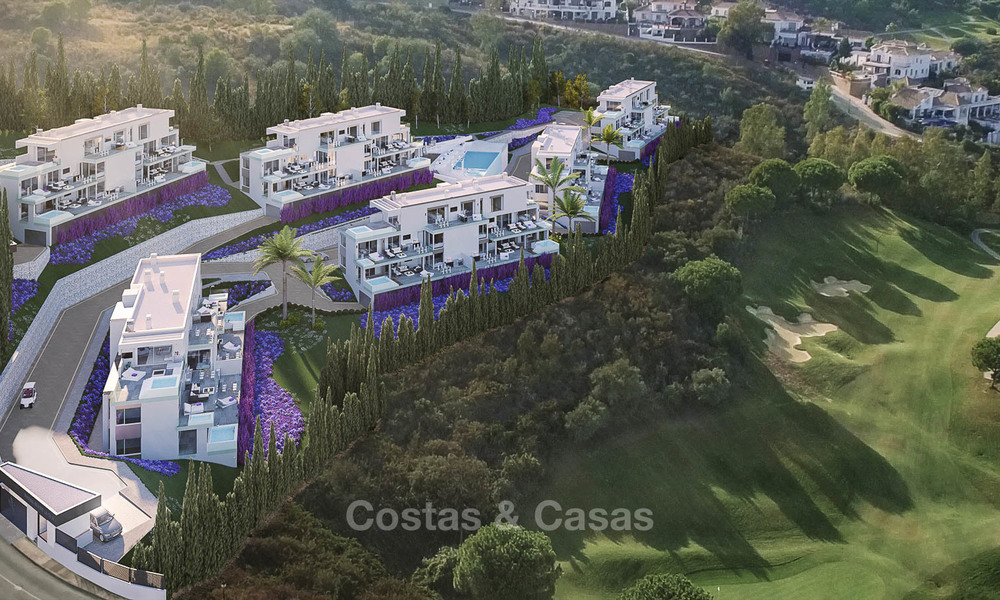 Brand new modern apartments with sea views for sale in a luxury boutique golf resort - La Cala, Mijas, Costa del Sol 7139