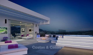 Brand new modern apartments with sea views for sale in a luxury boutique golf resort - La Cala, Mijas, Costa del Sol 7140