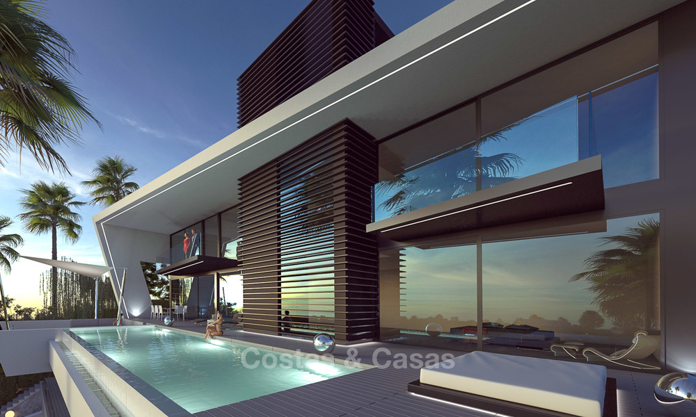 Plot + Modern new luxury villa with panoramic sea views for sale, Marbella 7212