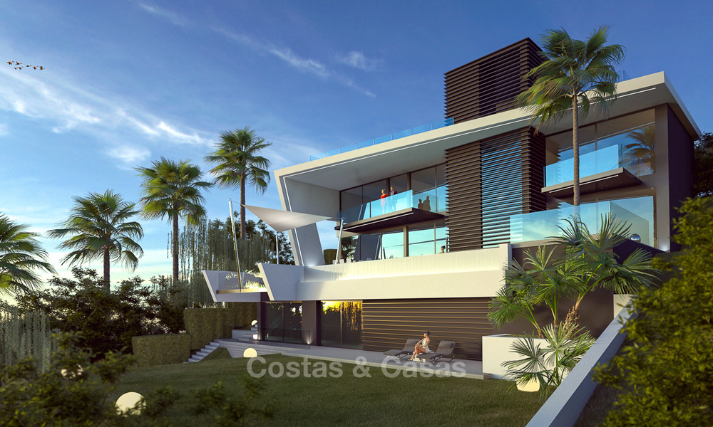 Plot + Modern new luxury villa with panoramic sea views for sale, Marbella 7213