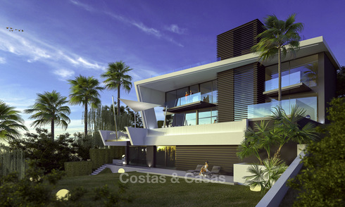 Plot + Modern new luxury villa with panoramic sea views for sale, Marbella 19344