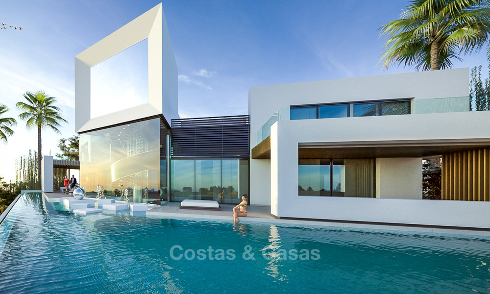 Impressive new built minimalist luxury villa with panoramic sea views for sale, Marbella 7442