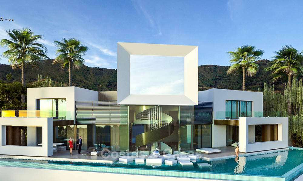 Impressive new built minimalist luxury villa with panoramic sea views for sale, Marbella 7443