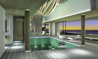 Impressive new built minimalist luxury villa with panoramic sea views for sale, Marbella 19337