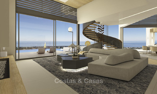 Impressive new built minimalist luxury villa with panoramic sea views for sale, Marbella 19338
