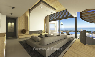 Impressive new built minimalist luxury villa with panoramic sea views for sale, Marbella 19341