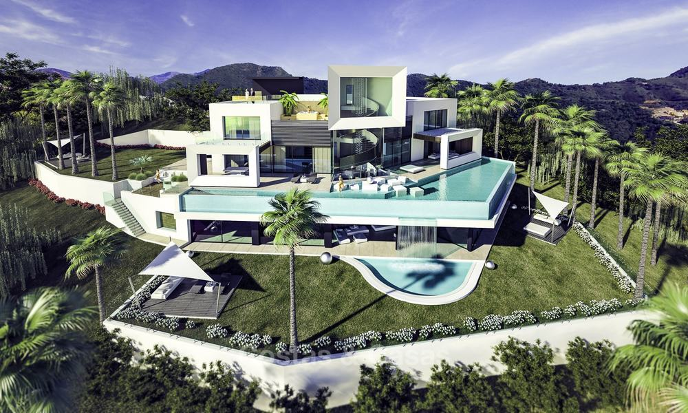 Impressive new built minimalist luxury villa with panoramic sea views for sale, Marbella 19343